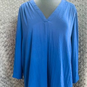 Blue blouse flowy tunic